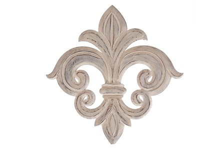 24 Inch White Fleur Wall Decor - Main