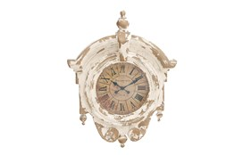 44 Inch White Antique Clock