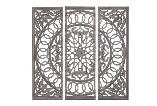 3 Piece Wood Scroll Panels
