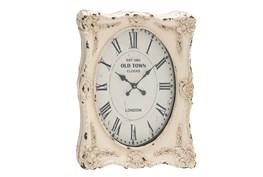 27 Inch White Wash Wall Clock