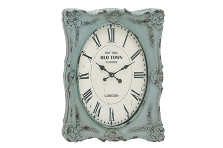 27 Inch Blue Wash Wall Clock - Main