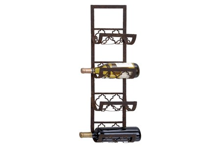 Brown Metal Wine Rack