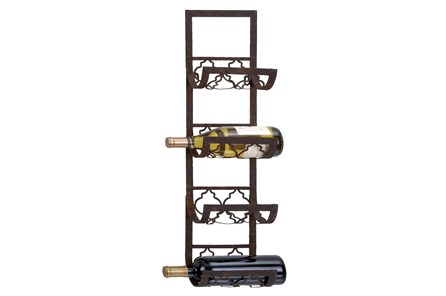 Brown Metal Wine Rack