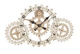 20 Inch White Gear Clock - Signature