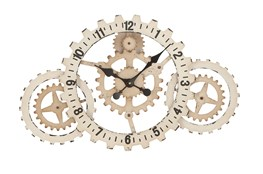 20 Inch White Gear Clock