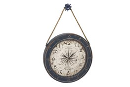 37 Inch Blue Nautical Clock