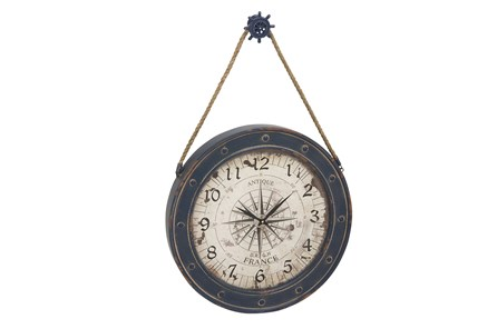 37 Inch Blue Nautical Clock - Main