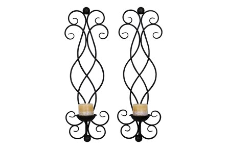 2 Piece Set Helene Candle Sconces - Main
