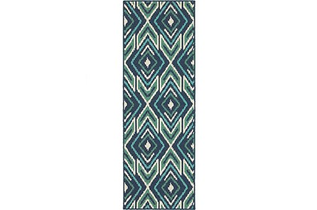 27X90 Outdoor Rug-West Bay Ikat