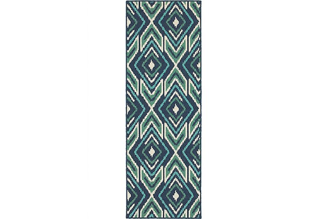 27X90 Outdoor Rug-West Bay Ikat - 360