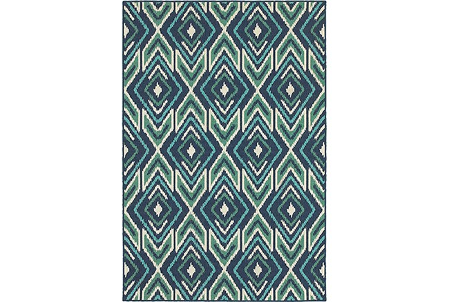 43X66 Outdoor Rug-West Bay Ikat - 360