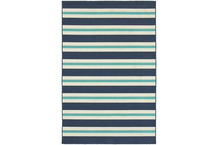 22X34 Outdoor Rug-Cabana Stripes Blue