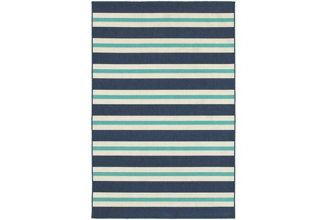 """2'3""""x7'5"""" Outdoor Rug-Cabana Stripes Blue - 360"""