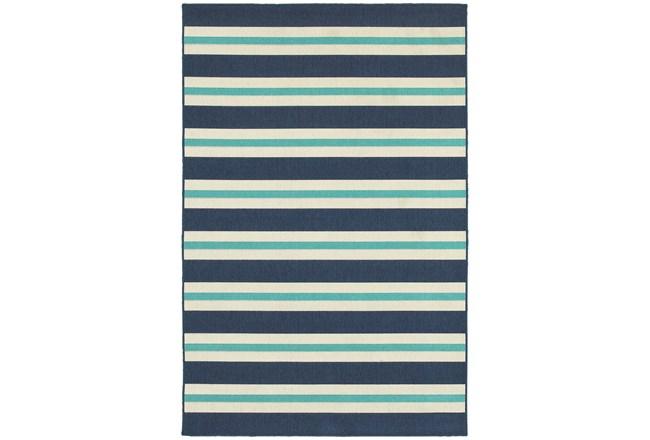 79X114 Outdoor Rug-Cabana Stripes Blue - 360