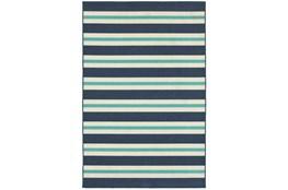 """8'5""""x13' Outdoor Rug-Cabana Stripes Blue"""