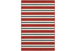 22X34 Outdoor Rug-Cabana Stripes Red