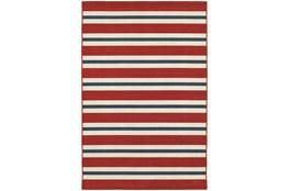 27X90 Outdoor Rug-Cabana Stripes Red