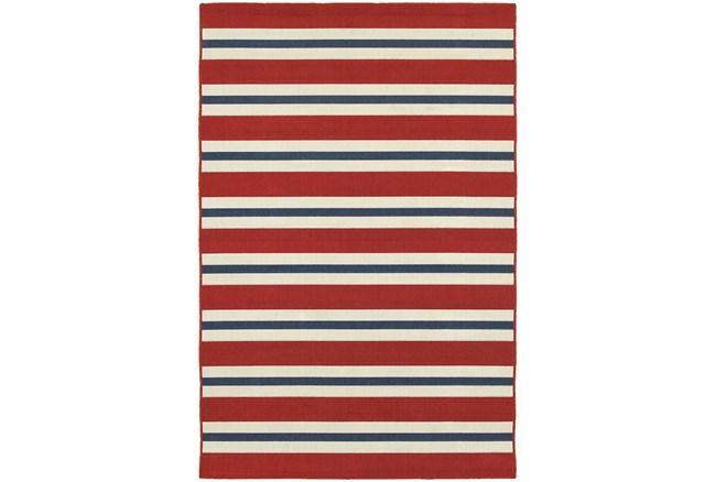 27X90 Outdoor Rug-Cabana Stripes Red - 360