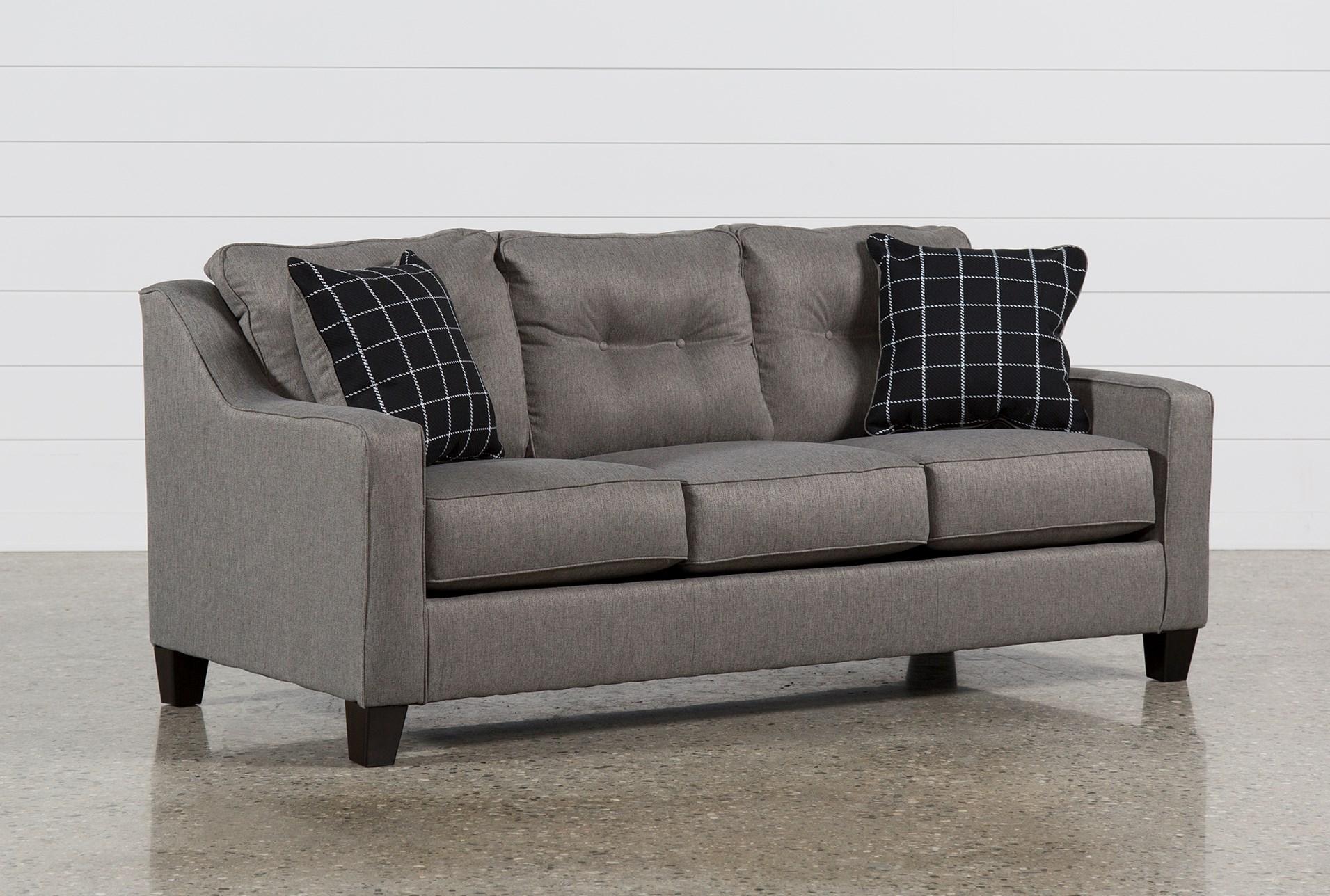 Brindon Charcoal Queen Sofa Sleeper Living Spaces