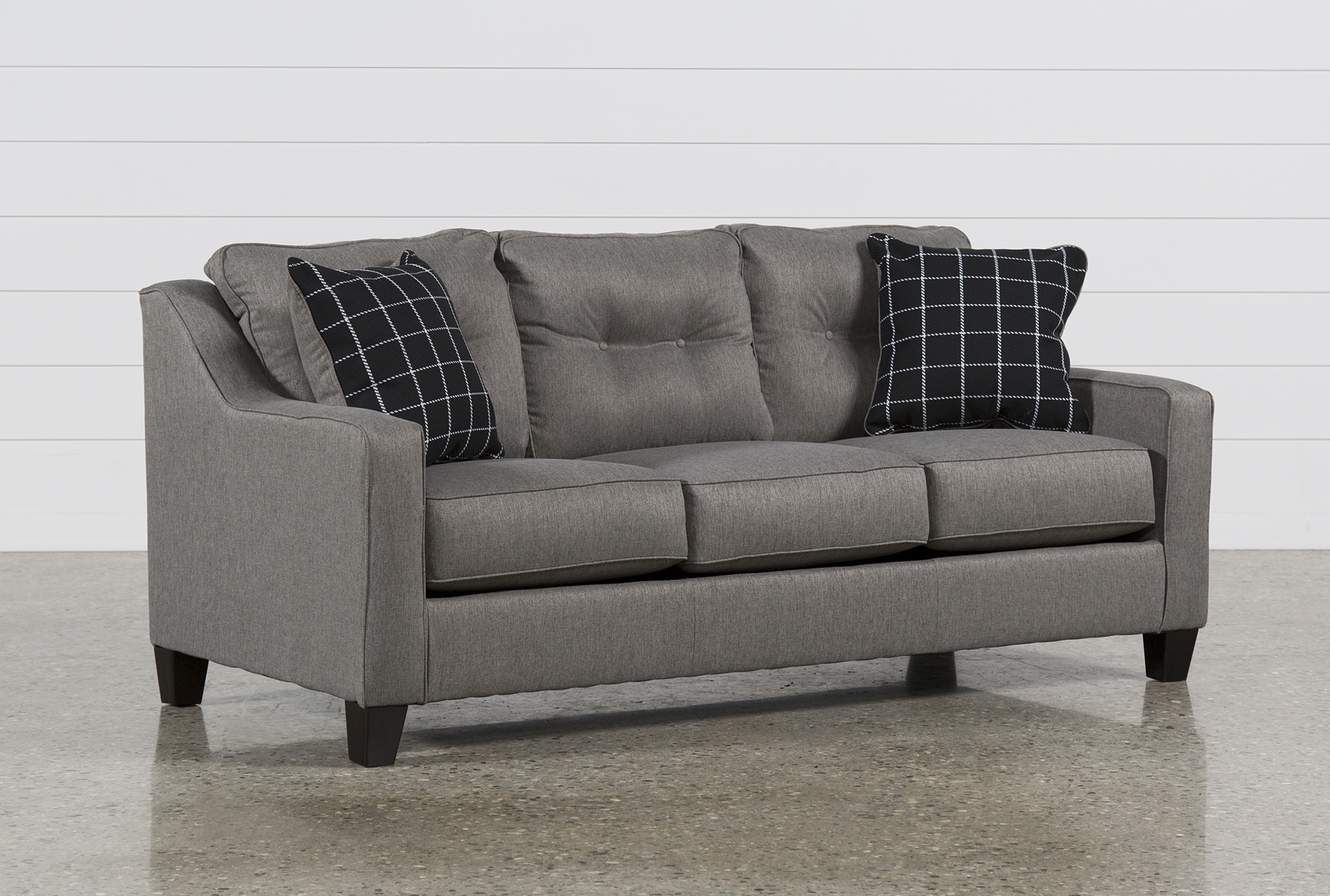 Superieur Brindon Charcoal Queen Sofa Sleeper   360