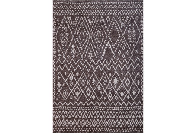 93X126 Rug-Tenzin Chocolate - 360