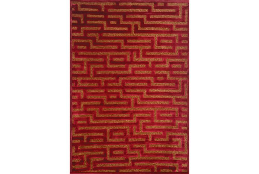 63X90 Rug-Maze Wine