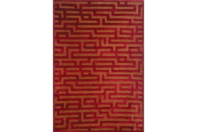 63X90 Rug-Maze Wine - 360