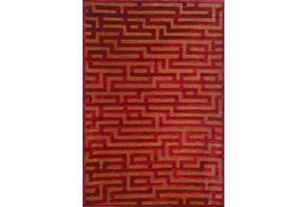 93X128 Rug-Maze Wine