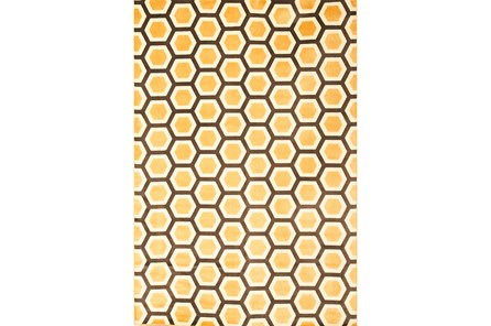 63X90 Rug-Reed Honeycomb Marigold