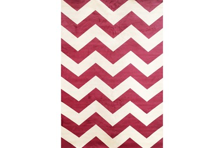 63X90 Rug-Sonia Berry Chevron