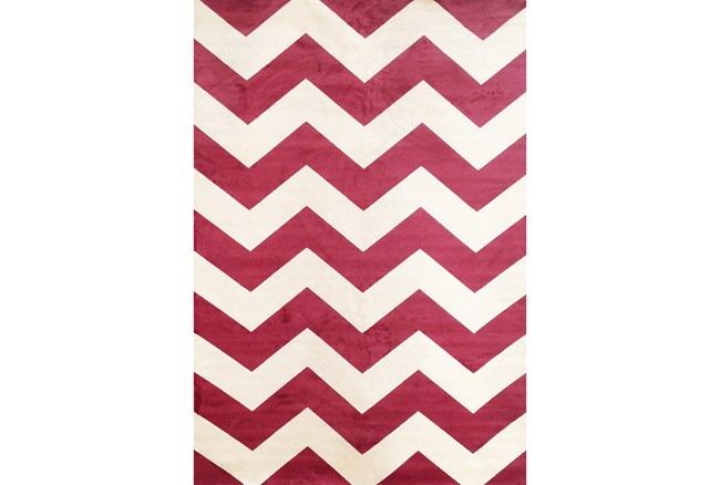 63X90 Rug-Sonia Berry Chevron - 360