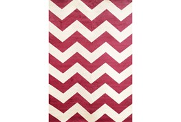 93X128 Rug-Sonia Berry Chevron