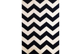 93X128 Rug-Sonia Black Chevron