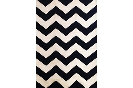 93X128 Rug-Sonia Black Chevron - Main
