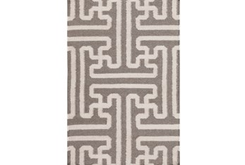 2'x3' Rug-Vich Taupe/Ivory