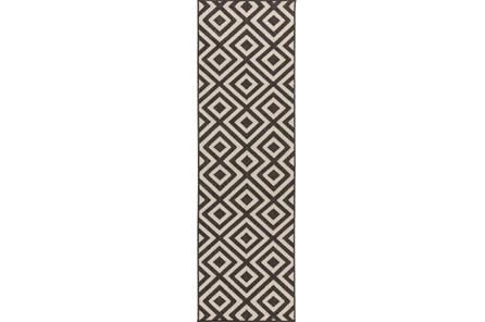 27X141 Rug-Hortensia Black - Main