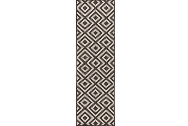 27X93 Rug-Hortensia Black - 360