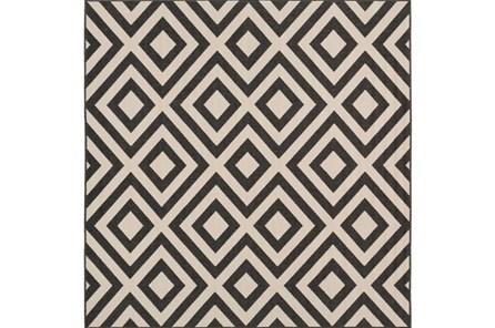 87X87 Square Rug-Hortensia Black - Main