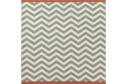 105X105 Square Rug-Tendu Chevron Moss