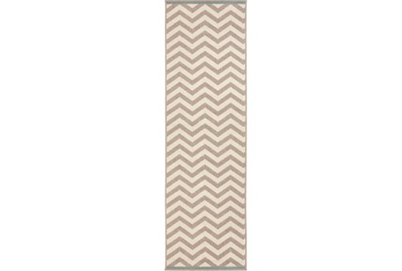 27X141 Rug-Tendu Chevron Grey