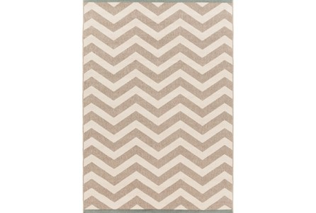 27X54 Rug-Tendu Chevron Grey