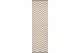 27X93 Rug-Tendu Chevron Grey