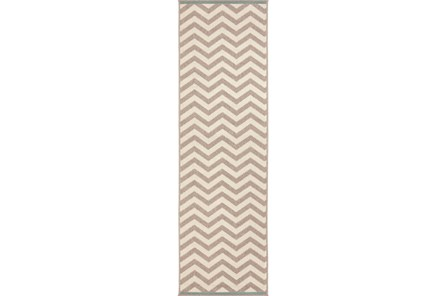 27X93 Rug-Tendu Chevron Grey