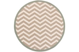 "7'3"" Round Rug-Tendu Chevron Grey"