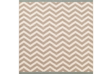 105X105 Square Rug-Tendu Chevron Grey