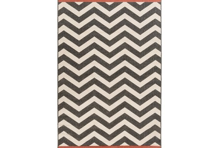 27X54 Rug-Tendu Chevron Black