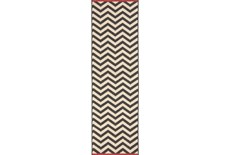 27X93 Rug-Tendu Chevron Black