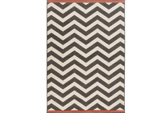 42X66 Rug-Tendu Chevron Black - 360