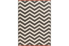 72X108 Rug-Tendu Chevron Black