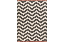 6'x9' Rug-Tendu Chevron Black